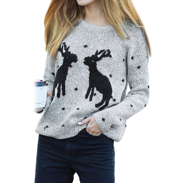Amuybeen Christmas Knitted Sweater
