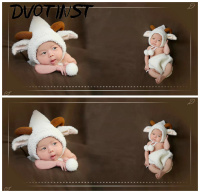Newborn Baby Photography Props Unisex Fotografia Animals Sheep Shorts+Hat Set Plush Costume Outfit Studio Shoot Photo Playsuit