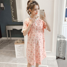 BreastFeeding Summer Dress Nightdress For Pregnant Women Go Out Lace Nursing Sleepwear Maternity Pajamas Clothes Nightgown