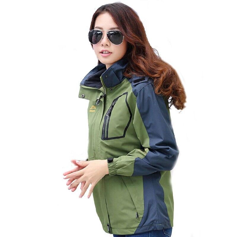 Femmes en plein air Softshell vestes printemps automne imperméable randonnée manteaux coupe-vent thermique Sports Camping Ski vestes - 6