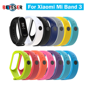 1pc For Xiaomi Mi Band 3 Strap Smart Accessories For Xiaomi Miband 3 Smart Wristband Strap Replacement Of Mi Band 3 13 Colors