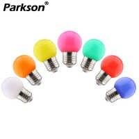 E27 220 V SMD 2835 лампочки 1 Вт 3 Вт Красочный Светодиодный лампа для люстры новогоднее; Рождественское украшение красный светодиод синего цвета