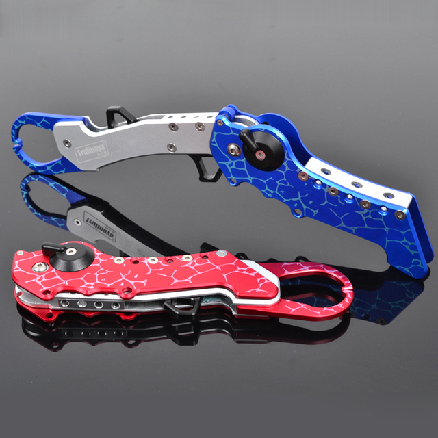 High-end Space Aluminum 288mm 200g folding fish pliers,Fish Head Clamp free shipping