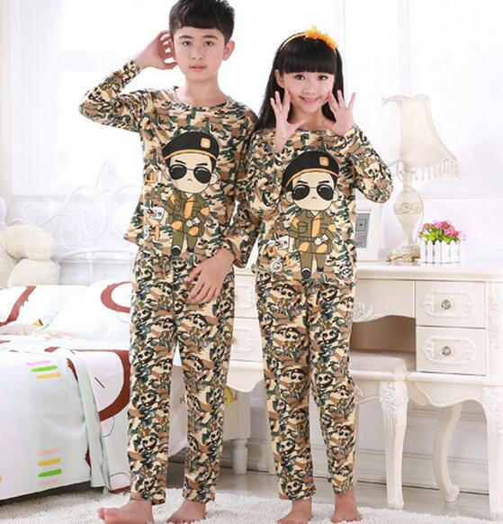 9506160ff Kids sleepwear cartoon homewear sets baby teenage boys girl pajamas ...