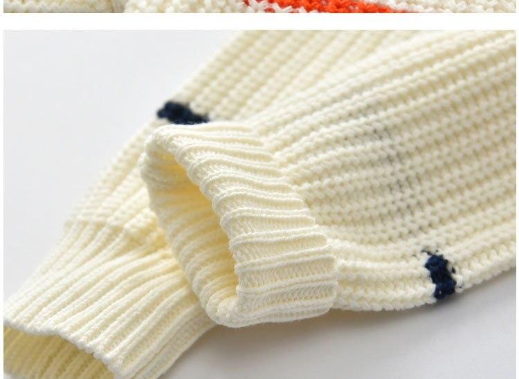 5dcfd82521ea ARISONBELAE Horizontal Stripes Baby Sweater O Neck Long Sleeve ...