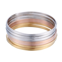 LASPERAL 7PCs Blank Stainless Steel Bangles For Kids Decorations Fashi