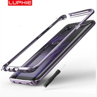 LUPHIE изогнутые металлические бампера для samsung Galaxy S9 S8 плюс чехол противоударный Алюминий бампер для samsung S9 крышка защитная оболочка