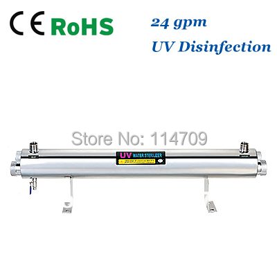 SS304 24 GPM UV Sterilizer Disinfection System CE, RoHS for Water Purification coronwater 72 gpm uv disinfection sbv 5925 6p