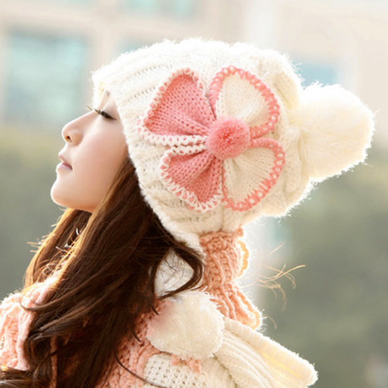 Hot Sales Knitting Hat Winter Hat For Women Knitted Beret Hat Skullies Winter Hat for Women Girls Gat Feminino Beanies Cap MZ012 skullies hot sale candy sets color pointed hat knitting hat sets hat cap 1866951