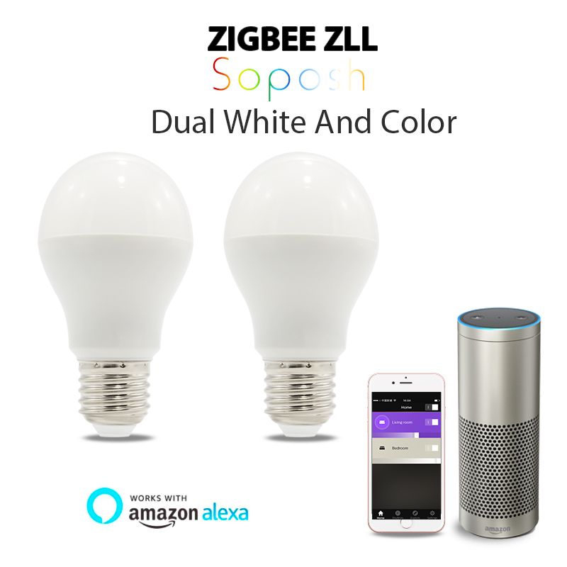 GLEDOPTO 6 w RGB + CCT ha condotto la lampadina Zigbee zll lingt link rgbww/cw lampadina compatibile con Amazon Echo plus e molti gateway