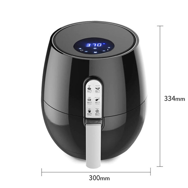 1400W 5.2L Health Fryer Cooker Smart Touch LCD Airfryer Pizza Oil free Air Fryer Multi function Smart Fryer for French fries 6