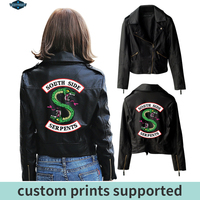 New Riverdale PU Printed Logo Southside Riverdale Serpents Jackets Women Riverdale Serpents Streetwear Leather Jacket Custom