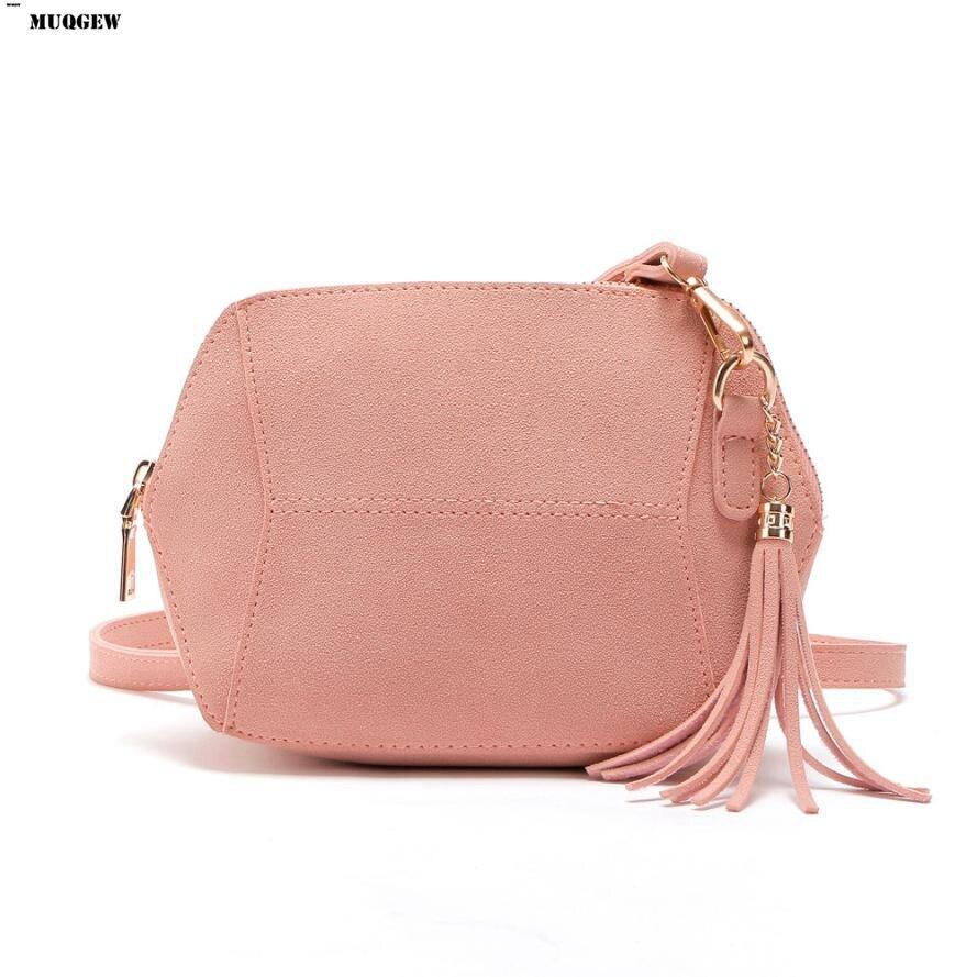 MUQGEW Suede Women Messenger Bags Tassel Zipper Ladies Crossbody Bag Satchel Vin