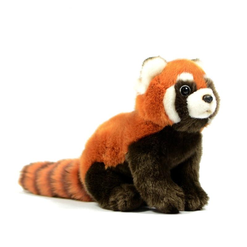 1PC 23cm Simulation raccoon Realistic Toy Red Panda Bear Cat Lifelike Soft Toys Plush Lesser Panda Doll for Kids Gifts