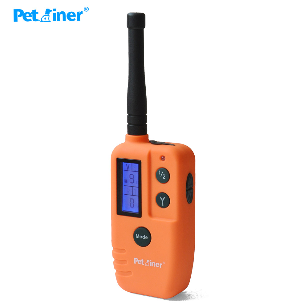Ev ve Bahçe'ten Eğitim yaka'de Petrainer 910T 2 köpek tasması elektrikli 500M aralığı su geçirmez ve Pet köpek ürünü köpek beeper avcılık için 2 köpekler için'da  Grup 3