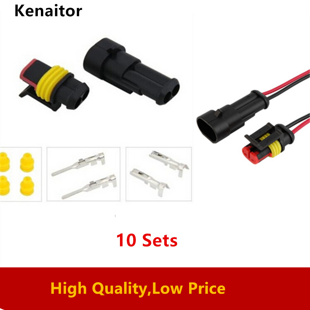 10 Kit 4 Pin Way Super Seal Auto Car Waterproof Electrical Connector Sealed Wire Plug