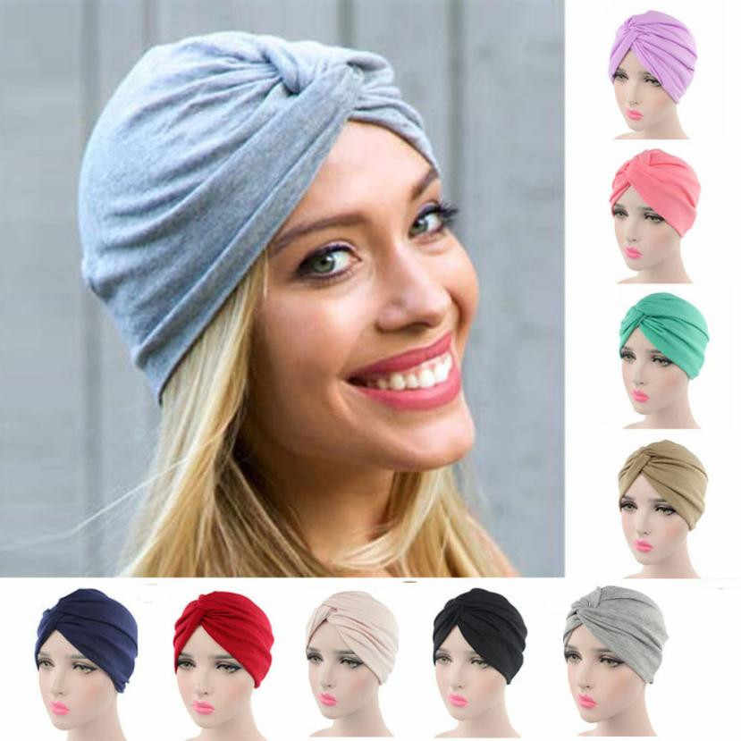 High quality Women Cancer Chemo Hat Beanie Scarf Turban Head Wrap Cap Soft comfortable Cotton Knitted hat lowest Price@casquette
