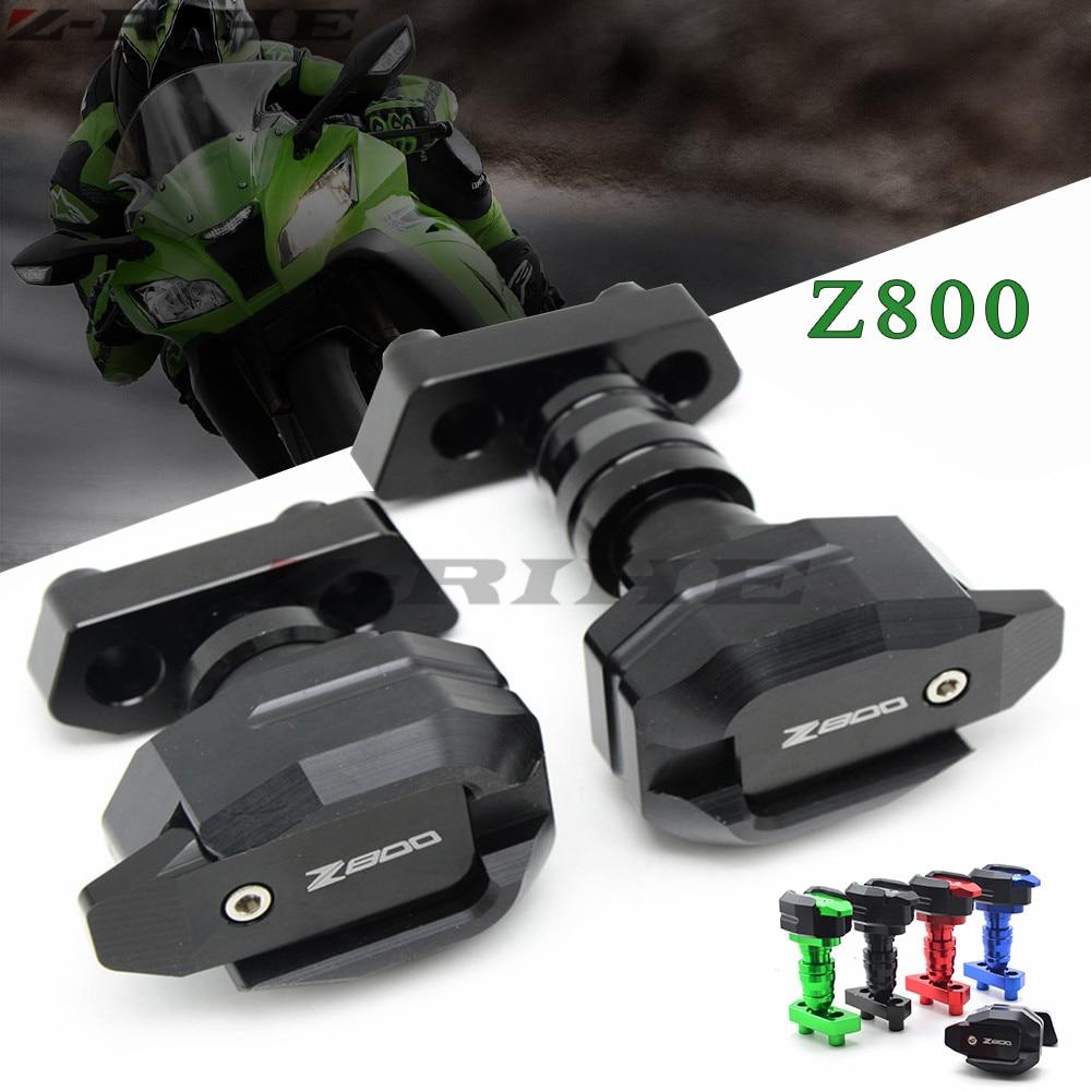 Motorbike Left and Right Frame Sliders Crash Protector Black Motorcycle Frame Sliders For KAWASAKI Z800 2013 2014 2015