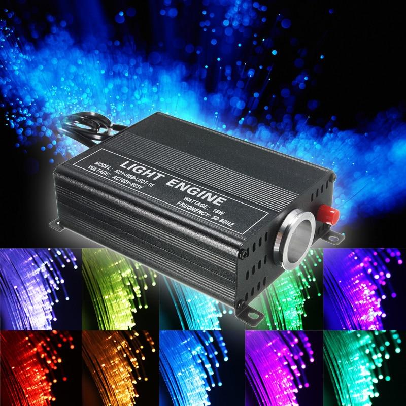 24key 16 couleur 150 pièces 0.75mm x 2 m fibre Optique Lumières RGB led voûte à étoile Lumière Kit Pour fibre optique moteur léger Machine