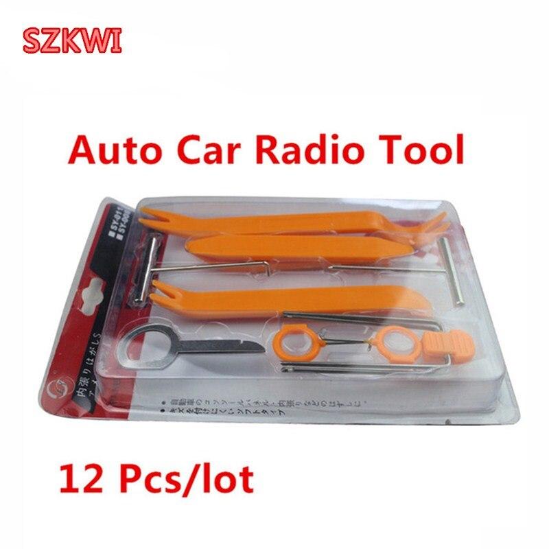12 pcs/ensemble De Voiture Auto Démonté Pry Kit Stéréo Renovation Intérieur Panneau de Moulage Clip Auto Removal Tool