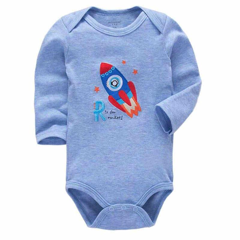 Trẻ sơ sinh Trai Bodysuits Bé Sơ Sinh Một Mảnh Dài Tay Áo Quần Áo 3-24 Tháng Toddler Trẻ Sơ Sinh Cô Gái Bodysuits