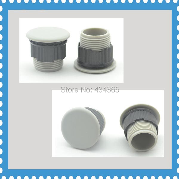 10pcs Push Button Switch Panel Plug  Plastic Grey 16mm Dia Mounting hole Panel Plug Cap push button switch xb4 series zb4bg2 zb4 bg2