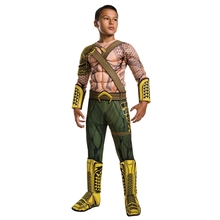 2018NEW ARRIVAL Deluxe Child Muscle Dawn of Justice Aquaman Halloween Costume Boys DC League Superhero Cosplay