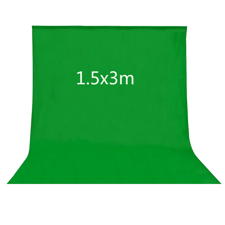 Photography studio Green Screen Chroma key 1.5 x 3M  4.9X9.8ft Background Backdrop for Studio Photo lighting