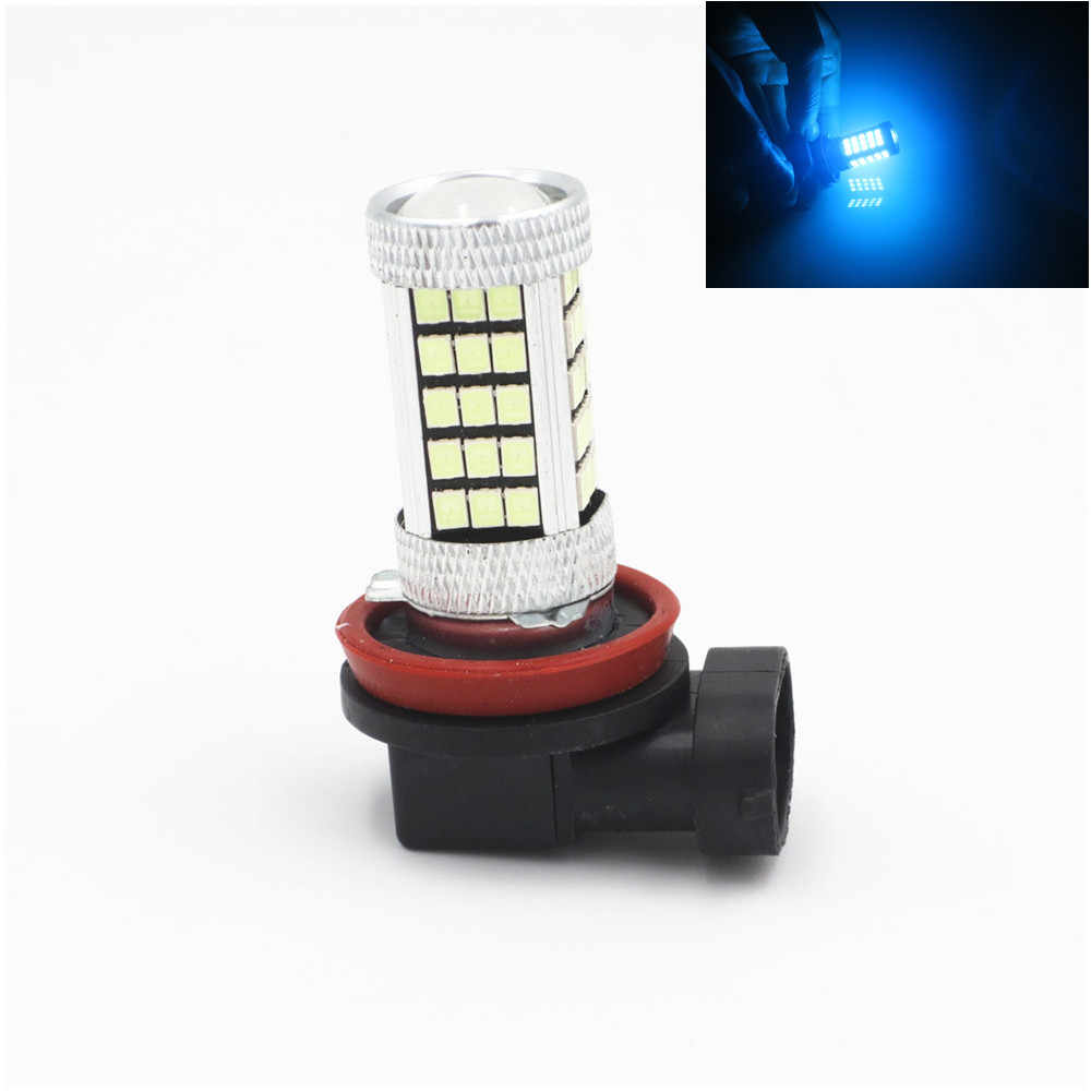 H11 H8 Ice Blue 63 66 SMD Projector Chips LED Bulbs Car Driving Fog Lights Lamp 12V