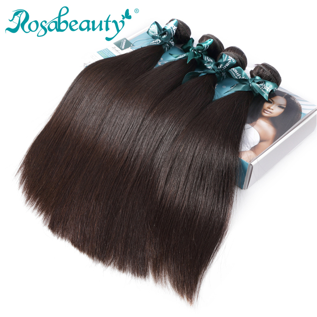Rosabeauty Hair Product 4 Bundles Malaysian Virgin Hair Straight