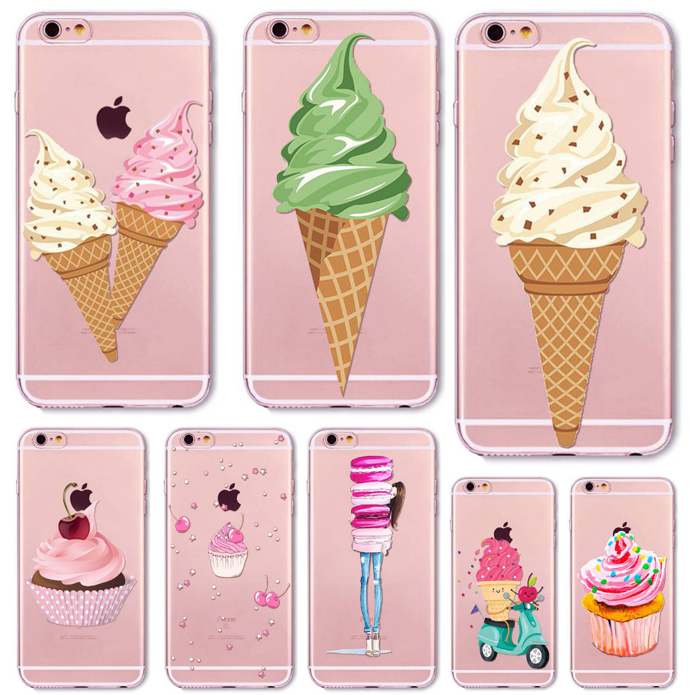 Teléfono case cubierta para 5c iphone 6 6 s plus 5 5S sí 4 4S Clara Suave Silico