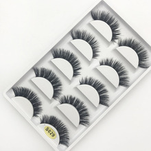 3D pure handmand Mink Hair False eyelashes natural long Luxurious Fake eyelash thick curl Winged Black eye lashes 1set = 5 pairs