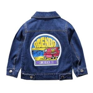 Image 4 - Children Mickey Denim Jacket Coat 2020 New Spring Autumn Kids Fashion Outerwear Boys Girls Hole Cartoon Jeans Coat For 2 7 Yrs