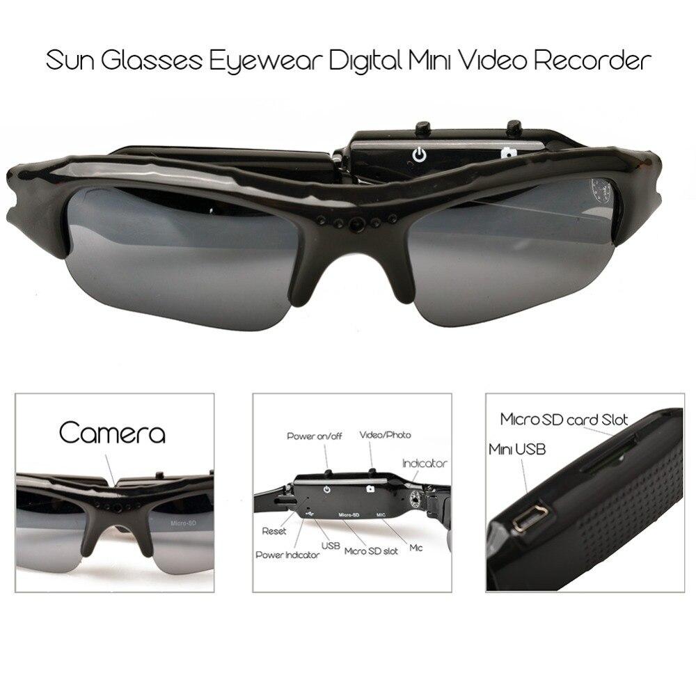 Lightdow Mini Sun Glasses Eyewear Digital Video Recorder