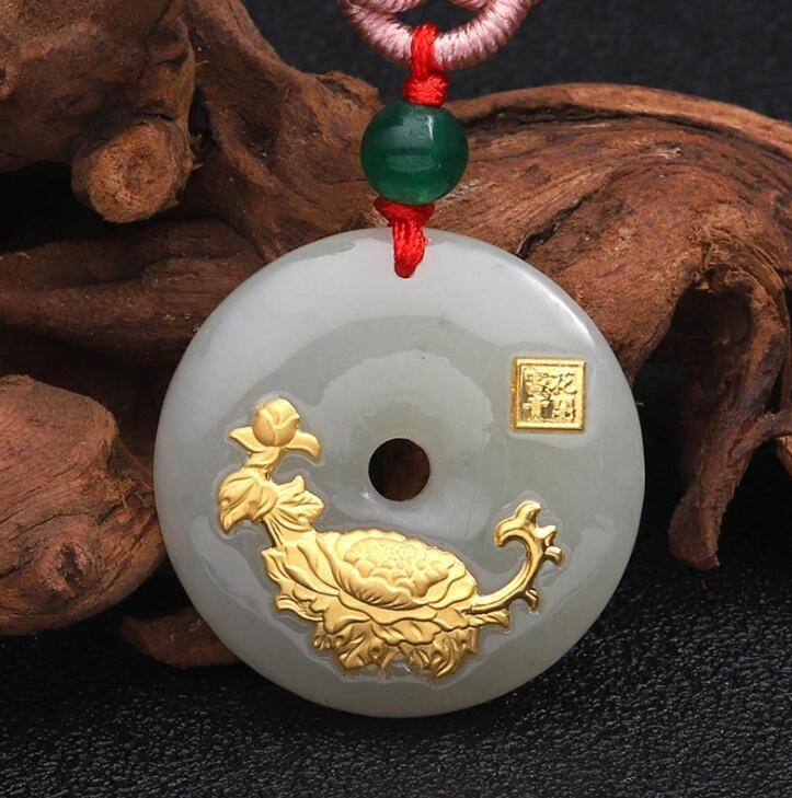 2018 Новый Дизайн цветок нефрита Цепочки и ожерелья для унисекс хорошее качество best подарок Лидер продаж Бесплатная доставка