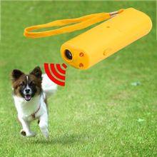 Новинка! Ультразвуковой Отпугиватель собак Портативный 3 в 1 ультразвуковой отпугиватель, против лая устройство для обучения собак