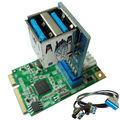 Mini PCI-e для USB 2 3.0 порта адаптер mini-PCIe к 19Pin USB3.0 заголовок + USB женский заголовок до 2 USB3.0 spiltter адаптер + кабель