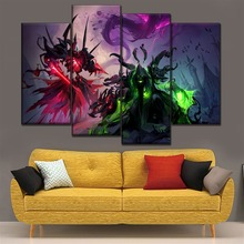 Home Decorative Pictures One Set On Canvas Print Wall Art Poster 4 Pieces Game Heroes of the Storm Alarak Guldan Painting