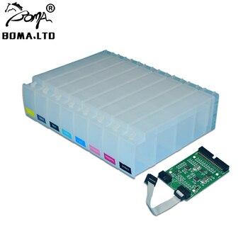 цена на BOMA.LTD Refill Ink Cartridge For HP Designjet Z6100 HPZ6100 HP91 Permanent Chip Decoder