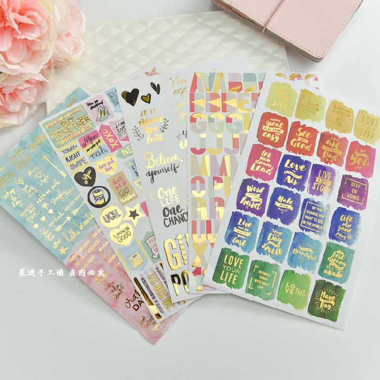 5pcs Hot stamping handbook materials Watercolor English Words Decorative Sticker DIY Scrapbooking Label planner Sticker Escolar5pcs Hot stamping handbook materials Watercolor English Words Decorative Sticker DIY Scrapbooking Label planner Sticker Escolar