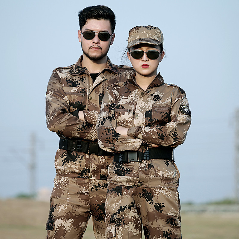 Mens Sniper Hunting Camouflage Clothing Outfit Military Tactical Jackets Pants Camo Uniforms Army Costume Clothes Combat CS Suit