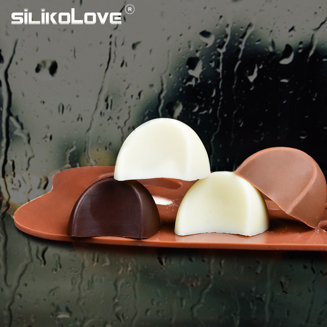 SILIKOLOVE 3D Chocolate Mold Silicone Chocolates Molds for Baking Nonstick Jelly Pudding Sugarcraft Mould DIY Kitchen Bakeware 3
