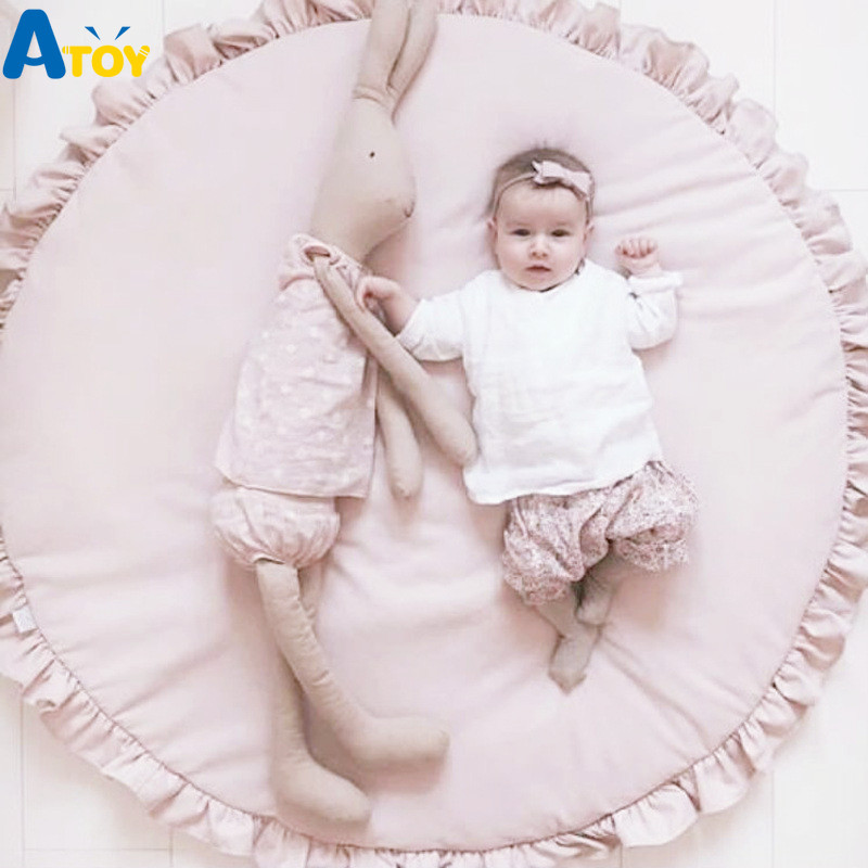INS Round Lace Game Blanket Baby Carpet Crawling Pad Thickening Children Room Decoration Baby Mat Toys Playmat Soft Baby Mat