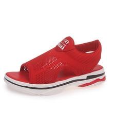 Women Summer Sandals Fashion Gladiator Sandals Woman Platform Shoes Luxury Brand Ladies Casual Air Mesh Low-cut Slip-on Shoes