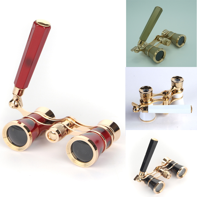 Gold 3X golden luxury lady opera glasses opera binoculars gift theater binoculars with handle DO016 отсутствует собрание древних грамот и актов городов вильны ковна трок…