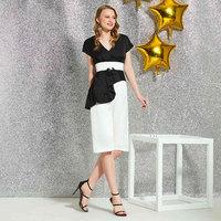 Tanpell v neck cocktail dress short sleeves knee length zipper up sheath gown women party custom sheath cocktail dresses