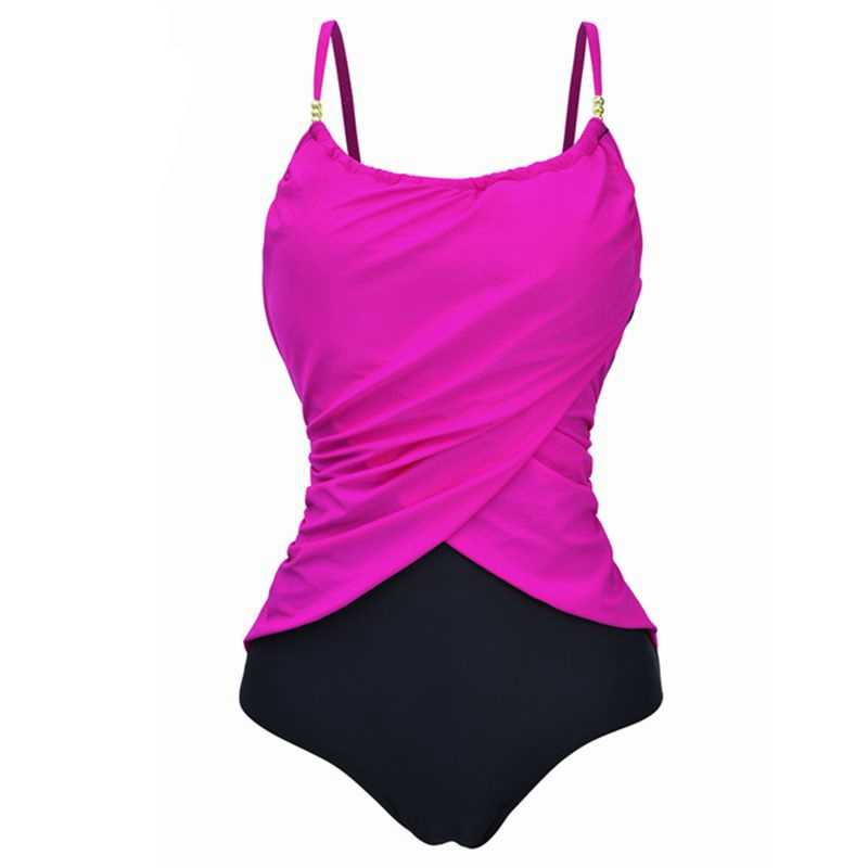 9c990cd342 ... Women Swimwear Female 2019 Big Size Sexy One Piece Swimsuit Push up  Bathing Suit Tummy Control ...