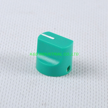 10pcs Colorful Rotary Control Vintage Plastic Green Knob 16x15mm for Guitar 6.35mm Shaft Amp Parts