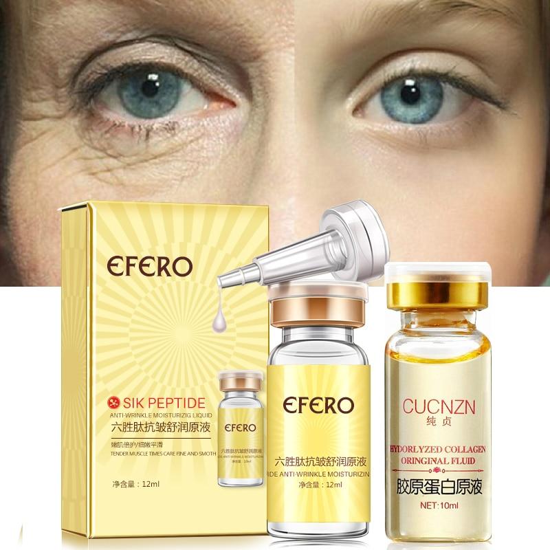 Image 2 - Hyaluronic Acid Argireline Collagen Peptides Whitening Cream Moisturizing Anti aging Wrinkle Essence Scar Remove Serum Face Care-in Serum from Beauty & Health