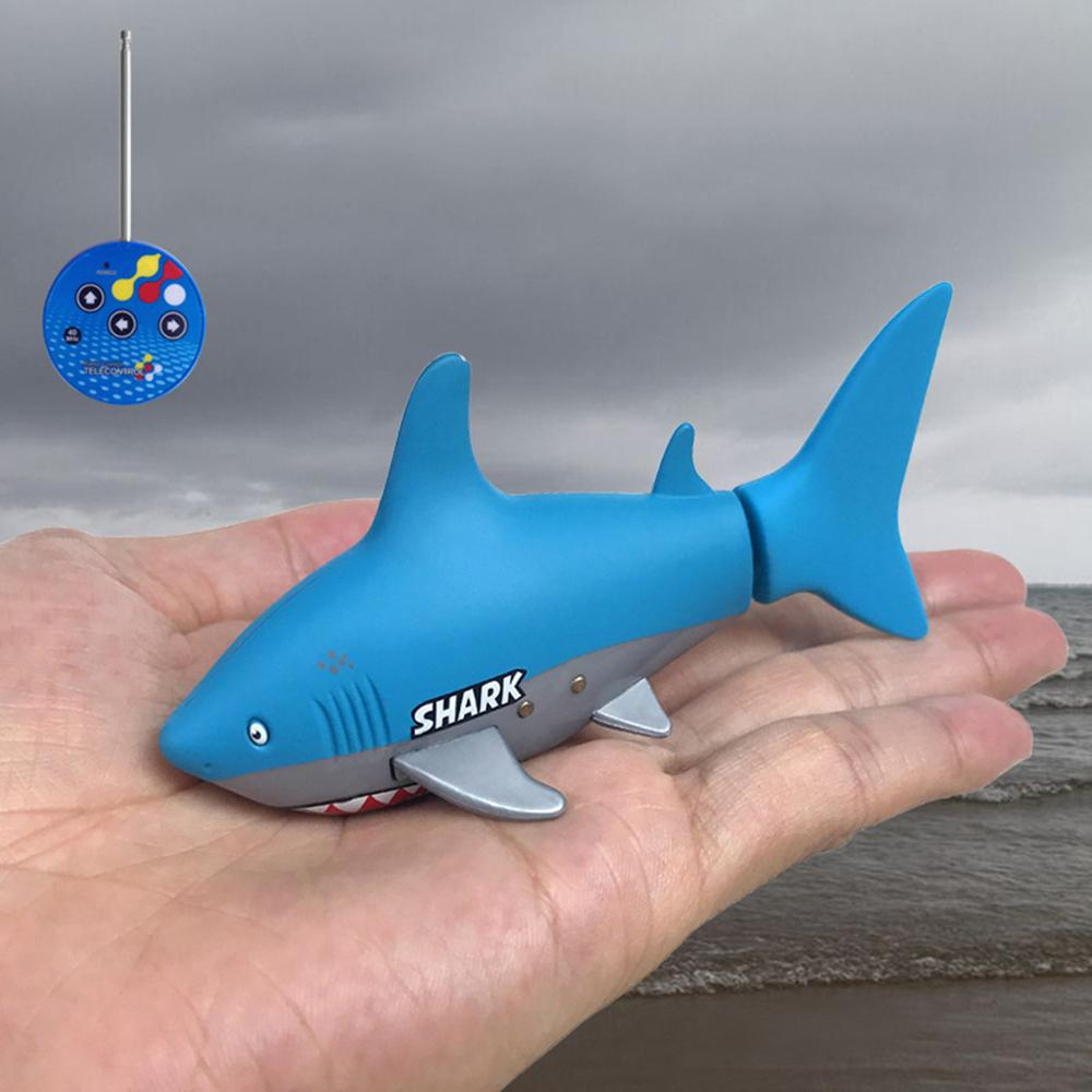 Remote Control Mini Shark Submarine Funny RC Underwater Fish Boat Toy Sharks Toys for  Children-in RC Submarine from Toys & Hobbies